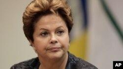 브라질의 지우마 호세프 대통령. (자료사진)