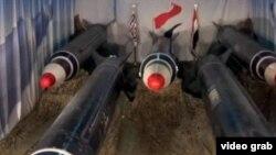 نمونه ای از موشک های بالستیک برکان که حوثی های یمن استفاده می کنند.