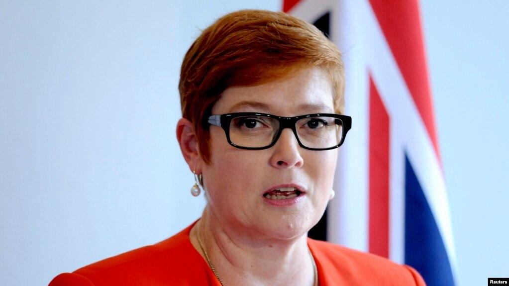 Ngoại trưởng Úc Marise Payne.