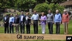 ບັນດາຜູ້ນໍາກຸ່ມປະເທດ G8 ໃນກອງປະຊຸມສຸດຍອດ G8 ປີ 2012 ທີ່ສະຫະລັດ