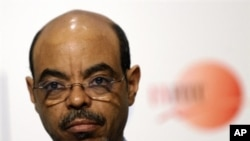 Ethiopian Prime Minister Meles Zenawi 16 Dec 2009 (file photo)