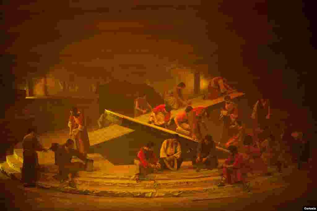 En el diseño escénico participaron artesanos de la comunidad de Nobsa y artistas plásticos reconocidos.