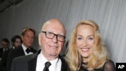 Rupert Murdoch and Jerry Hall seen at Twentieth Century Fox Golden Globes Party on Sunday, Jan. 10, 2016.