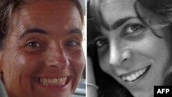 Dua warga Spanyol - Montserrat Serra (kiri) dan Blanca Thiebaut, pekerja bantuan LSM 'Doctors without Borders' berhasil dibebaskan di Somalia (foto: dok).