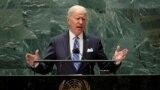 جو بایدن در نخستین سخنرانی خود به عنوان رئیس جمهوری آمریکا در مجمع عمومی سازمان ملل متحد، سه شنبه ۳۰ شهریور ۱۴۰۰