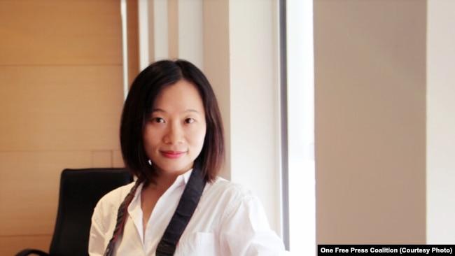 图为中国独立记者黄雪琴(取自一个自由媒体联盟(One Free Press Coalition)网站)。