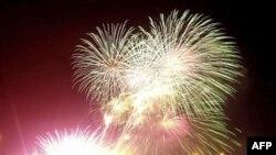 Pháo hoa thắp sáng bầu trời chào đón năm mới tại Manila, Philippines