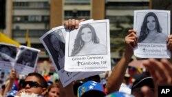Génesis Carmona fue una de las 43 personas que asesinadas durante las protestas en Venezuela entre febrero y mayo.