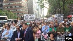 تظاهرات روز سه شنبه در نیویورک
