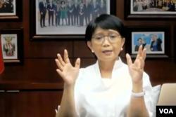 Menteri Luar Negeri RI Retno Marsudi. (Foto: VOA/Nurhadi)
