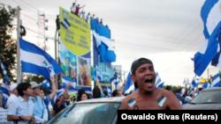 Un manifestante participa en una protesta contra el presidente nicaragüense Daniel Ortega, en Managua. REUTERS/Oswaldo Rivas. 15 de mayo de 2018. REUTERS/Oswaldo Rivas