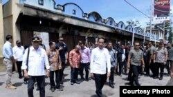Presiden Jokowi saat meninjau Pasar Wouma Wamena, 28 Oktober 2019. (Foto: Humas Polda Papua)
