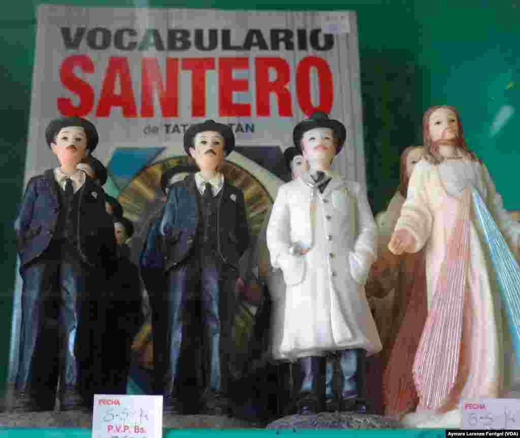 En las tiendas espiritistas es muy común ver a José Gregorio Hernández, conocido como el Siervo de Dios, mezclado con espíritus a los que se les pide favores.