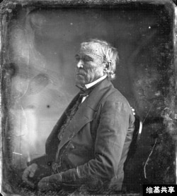 Zachary Taylor at the White House daguerreotype by Matthew Brady, 1849