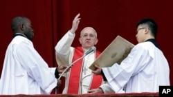 Папа Франциск звертається з посланням «місту і світу» з нагоди Різдва Христового