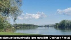 Bosnia and Herzegovina -- Bridge on Svilaj river, April 15, 2020.