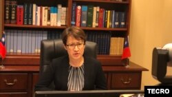 Bà Hsiao Bi-khim, đại sứ trên thực tế của Đài Loan tại Mỹ (ảnh chụp ngày 12/8/2020)
