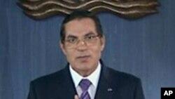 Zine El Abidine Ben Ali, ancien président tunisien lors de son discours du 13 janvier 2011 (Image de la télévision tunisienne)