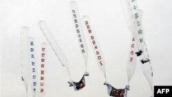 Các quả bóng bay mang theo truyền đơn lên án nhà lãnh đạo Bắc Triều Tiên Kim Jong Il được các nhà hoạt động và người đào tị thả sang Bắc Triều Tiên