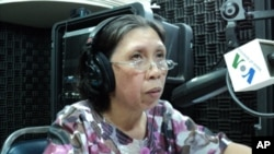 """""""The majority of the illiterate are poor,"""" Pal Vannariraks, who has written novels, poems and other works, told """"Hello VOA"""" Monday."""