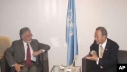ملاقات زلمی رسول با منشی عمومی ملل متحد