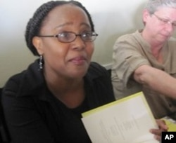 Author Edwidge Danticat signed copies of her new book during the pre-screening reception