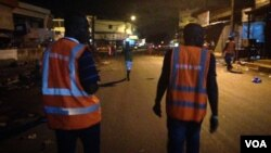 Member of a government team that does night campaigns during which they reach out to street children, and in some neighborhood to youth gangs roaming the streets. (E. Iob/VOA)