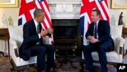 Prezident Obama Britaniyanın Baş naziri Deyvid Kameronla görüş zamanı