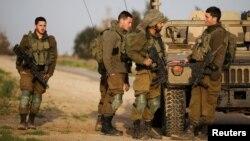 Binh sĩ Israeli tại khu vực giáp phía nam dải Gaza, tháng 2/2018.
