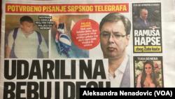 Naslovna strana Srpskog Telegrafa za 23. juli 2019. godine, Foto: VOA