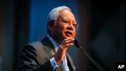 馬來西亞總理納吉布發表聲明