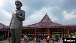 Bức tượng của cựu tổng thống Indonesia Suharto tại bảo tàng Suharto ở Yogyakarta.