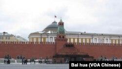 莫斯科紅場克里姆林宮和列寧墓