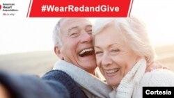 La Asociación Americana del Corazón se une a la campaña de vestirse de rojo en el mes nacional para tomar conciencia de las enfermedades cardiovasculares.