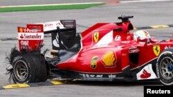 Sebastian Vettel e a sua máquina (foto de arquivo)