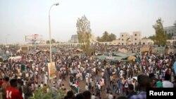 Sudanlı nümayişçilər