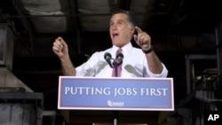 El candidato republicano Mitt Romney hace campaña en Ohio.