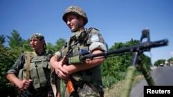 Українські військові у Донецькій області.