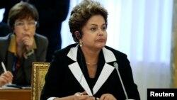巴西總統羅塞夫星期四在G20經濟峰會上。