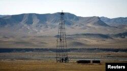 An oil installation in an area near Herat, Afghanistan, December 17, 2009.