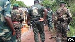 Wanajeshi wa DRC katika eneo la shambulio.