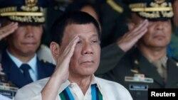 菲律賓總統杜特爾特12月28人參加軍人週年活動。