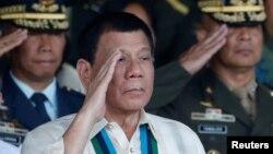 菲律賓總統杜特爾特 (資料圖片)