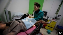 Một phòng khám phá thai tại Tây An, tỉnh Thiểm Tây Trung ương Trung Quốc.