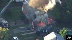 Cháy đường ống gas ở thành phố Lawrence.