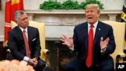 دیدار دونالد ترامپ رئیس جمهوری ایالات متحده و عبدالله دوم پادشاه اردن در کاخ سفید - ۲۵ ژوئن ۲۰۱۸