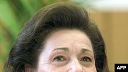 Bà Suzanne Mubarak, vợ của cựu Tổng thống Ai Cập đã bị lật đổ Hosni Mubarak