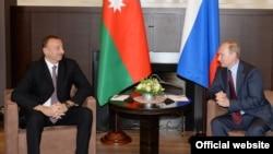 Prezident İlham Əliyev və prezident Vladimir Putin