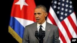 Obama discursa em Havana