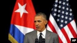 Predsednik Obama govori u pozorištu Gran Teatro u Havani, 22. marta 2016.